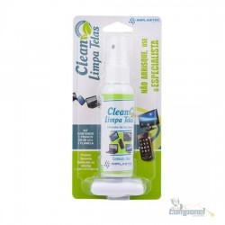 Limpa Telas Clean Implastec 60ml Com Flanela